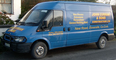John Curran & Sons Construction Van